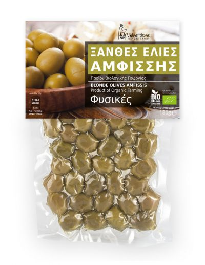 Velouitinos Blonde Olives Amfissis Product of Organic Farming 180g