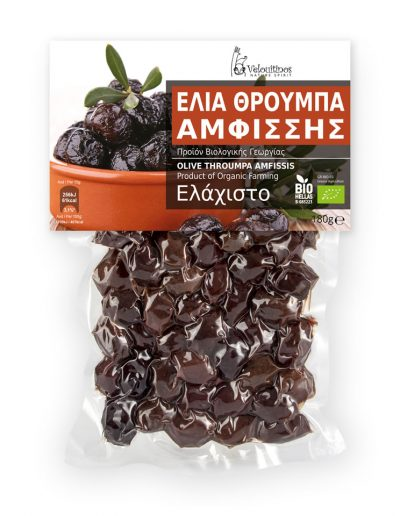 Velouitinos Olive Throumpa Amfissis Product of Organic Farming 180g