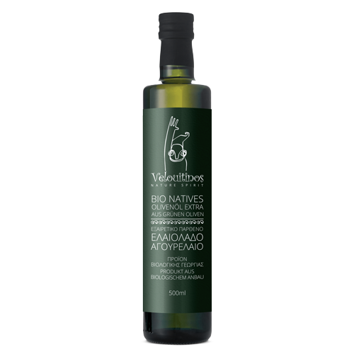 Velouitinos Extra Virgin Olive Oil Early Harvest Product of Organic Farming 500ml